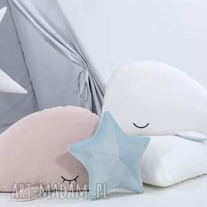 pokoik dziecka dekoracja poduszka rozgwiazda - niebieski