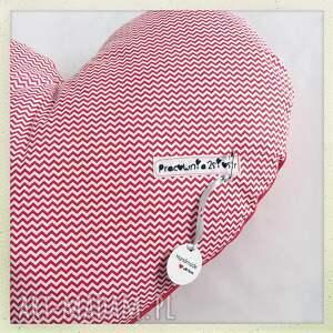 ręcznie robione pokoik dziecka serce poduszka red