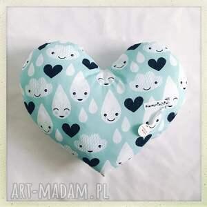 nietuzinkowe pokoik dziecka krople poduszka serce