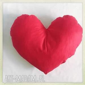 ręcznie robione pokoik dziecka zygzak poduszka serce red