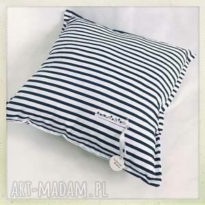 biały pokoik dziecka poduszka standard paski