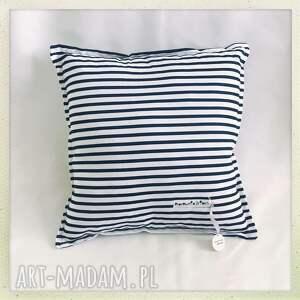 białe pokoik dziecka paski poduszka standard