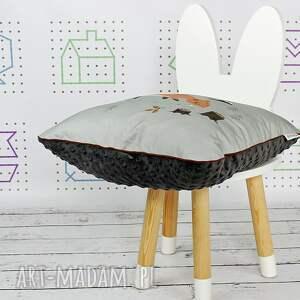 szare pokoik dziecka dekoracyjna poduszka wild one sarenka 46x46