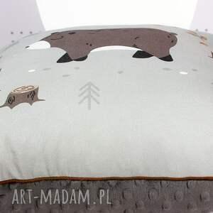 beżowe pokoik dziecka jasiek poduszka wild one niedźwiadek 46x46