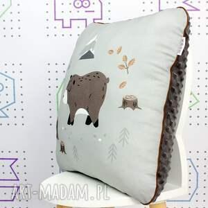 niepowtarzalne pokoik dziecka poduszka wild one niedźwiadek 46x46
