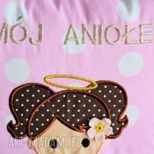 pokoik dziecka poduszka z aniołem - dziewczynka