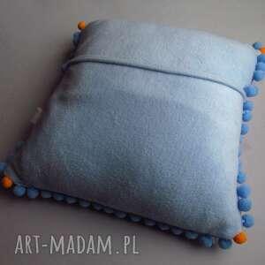 niebieskie pokoik dziecka poduszka z liskiem - na zamówienie
