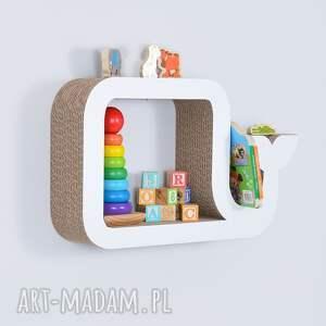ciekawe pokoik dziecka półka na książki zabawki wieloryb