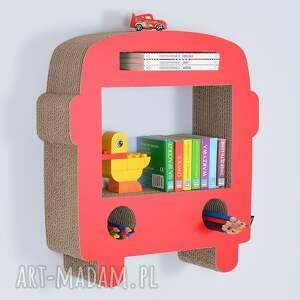 modne pokoik dziecka półka na książki zabawki bus ecoono