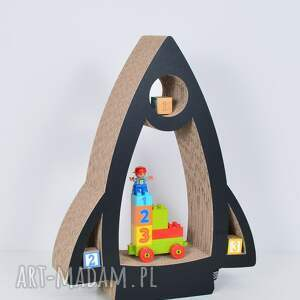 pokoik dziecka chłopiec półka na książki zabawki rakieta