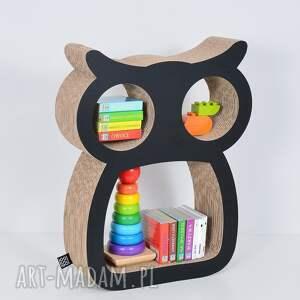 pokoik dziecka chłopiec półka na książki zabawki sowa