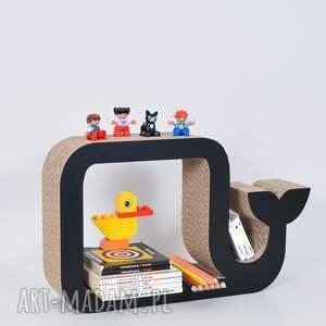 pokoik dziecka chłopiec półka na książki zabawki wieloryb
