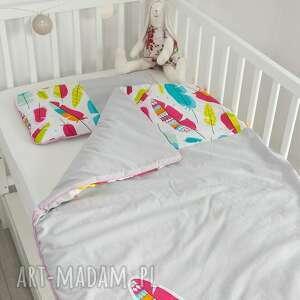 trendy pokoik dziecka piórka pościel do łóżeczka piórkowy las