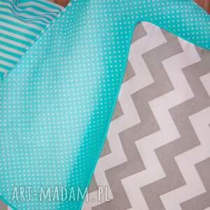 szare pokoik dziecka łóżeczko pościel dziecięca turkusowo-szara