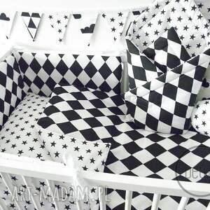 białe pokoik dziecka pościel 100x135 romby czarno biała