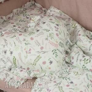 pościel dziecięca pokoik dziecka różowe z falbanką 100x135