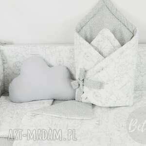 białe pokoik dziecka pościel z-wypełnieni z wypełnieniem 75x100