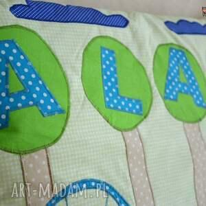 niebieskie pokoik dziecka poszewka na poduszeczkę z imieniem