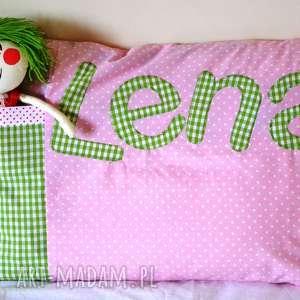 trendy pokoik dziecka poszewka na poduszkę z imieniem