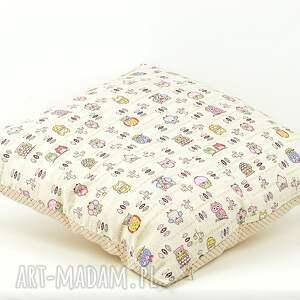 bawełna pokoik dziecka poszewka na poduszkę 45x45cm - sowy