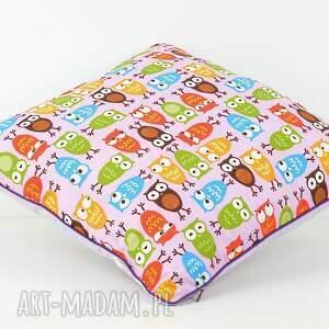 poduszka pokoik dziecka fioletowe poszewka na poduszkę 40x40cm