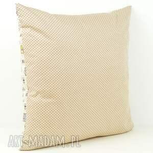 brązowe pokoik dziecka poduszka poszewka na poduszkę 45x45cm - sowy