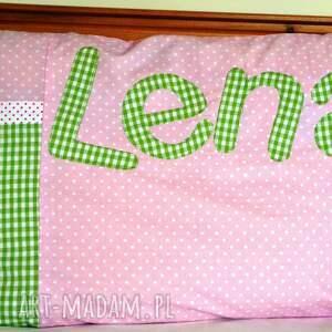 różowe pokoik dziecka poszewka na poduszkę z imieniem