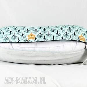 poduszka pokoik dziecka turkusowe poszewka na poduszkę rogal boppy