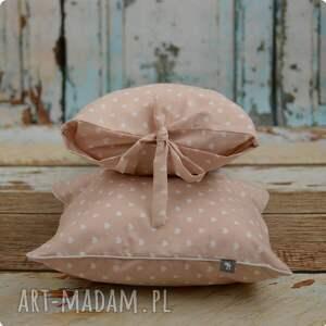 hand made pokoik dziecka poszewka poduszka - pudrowy róż