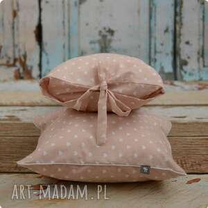 modne pokoik dziecka poszewka poduszka - pudrowy róż