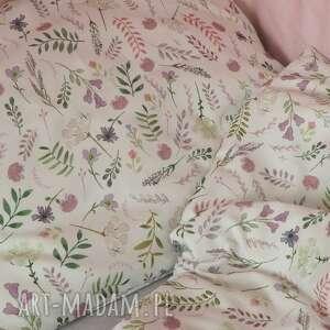 pościel w-kwiatki pokoik dziecka różowe poszewki na 100x135