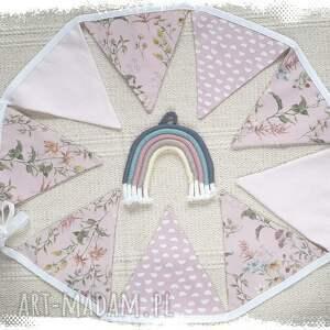 girlanda dla dziewczynki pokoik dziecka różowe proporczyki - baner