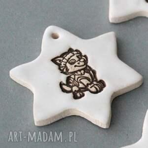 pomysły na prezenty pod choinkę białe psi patrol - zawieszki ceramiczne