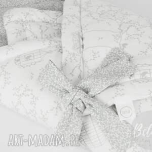 białe pokoik dziecka rożek otulacz ptaszki listki