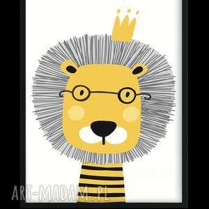 atrakcyjne pokoik dziecka lew skandi zwierzaki - 3 obrazki a3