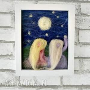 fioletowe pokoik dziecka obraz spadająca gwiazda
