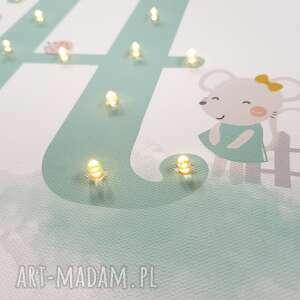 pokoik dziecka pastelowa świecąca litera led