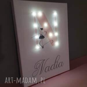 hand-made pokoik dziecka baletnica świecąca litera led z imieniem