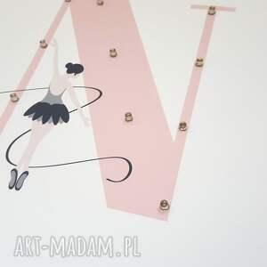 baletnica pokoik dziecka białe świecąca litera led z imieniem