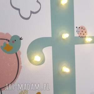 modne pokoik dziecka pastelowa świecąca litera led