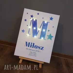 eleganckie pokoik dziecka lampka świecąca metryczka imię prezent