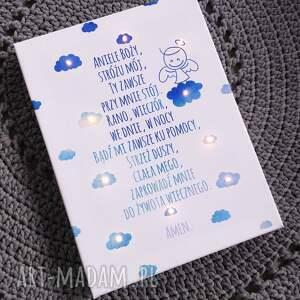 prezent pokoik dziecka świecąca obraz modlitwa anioł