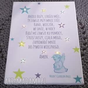 pokoik dziecka chrzest świecąca obraz led modlitwa anioł