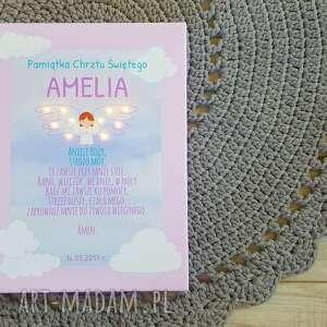 pokoik dziecka: świecąca pamiątka chrztu modlitwa aniele boży aniołek prezent na chrzest dla swiecacy