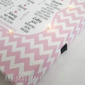 pokoik dziecka: świecąca tablica urodzinowa personalizowany prezent roczek lampa led urodziny lampka