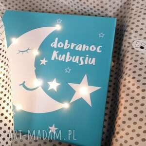 pokoik dziecka księżyc świecący gwiazda obraz