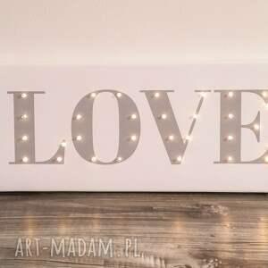gustowne pokoik dziecka love świecący napis prezent