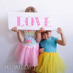 pokoik dziecka love świecący napis prezent