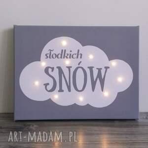 ręcznie zrobione pokoik dziecka chmura świecący obraz słodkich snów
