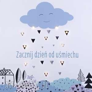 pokoik dziecka skandynawski świecący obraz led motto typografia